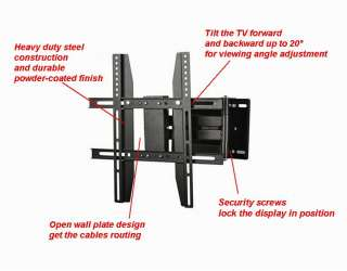 Adjustable TV Wall Mount LCD LED Tilt Swivel Corner Articulating 17