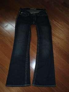 Buckle Big Star Maddie Mid Rise Stretch Dark Wash Bootcut Jeans 27x29