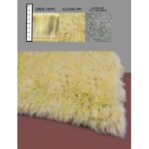 Flokati Faux Fur Rugs 2 x 8 (Canary Yellow) Furniture