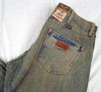 Mens Western Wrangler Retro Boot Cut Premium Patch Jeans NWT 32 x 34 $