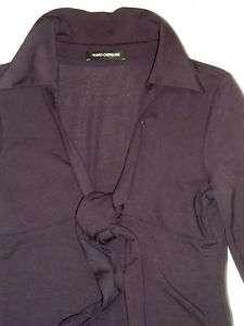 Flavio Castellani purple stretch jersey knit dress S