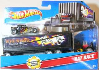 Hot Wheels Truck Transporter Rat Race Bone Shaker