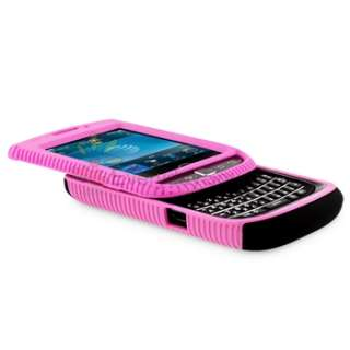 Black Pink Hard Case+Privacy LCD+Charger+Mount+USB For Blackberry