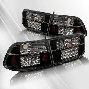 Honda Civic 2DR 96 97 98 99 00 LED Tail Lights ~ pair set
