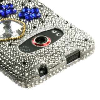 Cloudy Night Bling Diamante Snap On Hard Case Cell Phone Cover for HTC