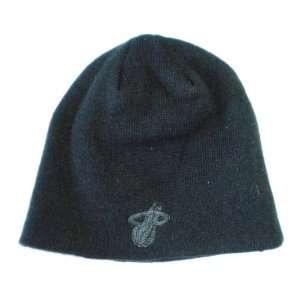 Miami Heat Adidas Black Tonal Knit Beanie Hat