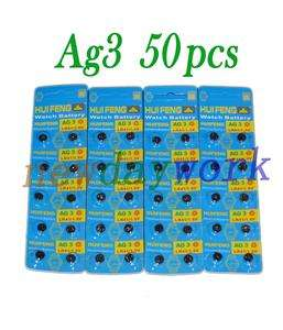 50 Alkaline 1.5V AG3 LR41 SR41 LR736 Coin Cell Battery
