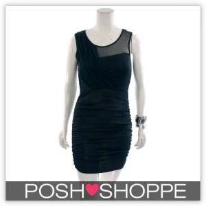 Womens Plus Size Clothing Dress Sheer Drape Cocktail Sexy US 20/22 3X