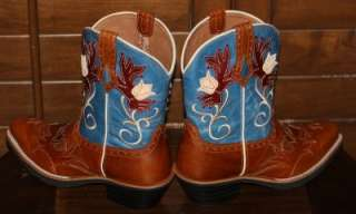 NEW Womens ARIAT Whoa Baby Square Toe Crepe Brown Western Cowboy boots