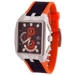 Adee Kaye Mens Motor Sport Orange Watch AK 4010 M ORN