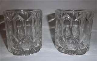 CROWN ROYAL Canadian Whisky Faceted Rocks Bar Liquoir Glasses