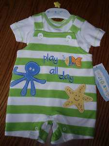 WISHES & KISSES NEWBORN BABY BOYS OUTFIT NEW NWT