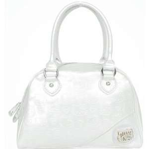 Hello Kitty Pattern Embossed White Handbag Bag Purse Baby