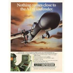 1986 Pilatus AEW Defender Early Warning Aircraft Print Ad