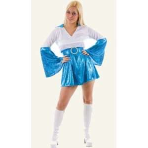 Abba Dancing Queen Blue/White Fancy Dress Costume Size US