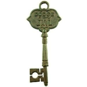 Antique Style Decorative DODGE CITY JAIL Skeleton Key