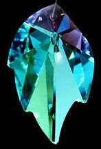 8805 45mm SWAROVSKI AB LEAF Austrian Crystal Prism Pendant Logo RARE