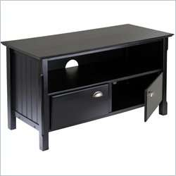 Winsome Timber Solid Wood Plasma/LCD Black TV Stand 021713202444