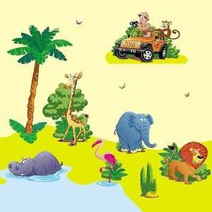 Africa safari   Giant Wall Sticker Decals (Kit 82.7 x 39.4 Inches) for