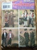 simplicity 4918 costume pattern childs pirate cowboy +