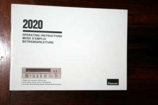 Sansui 2020 Receiver Owners Manual *Original*