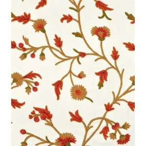 Winter Time Off White Cotton Duck Crewel Fabric: Arts
