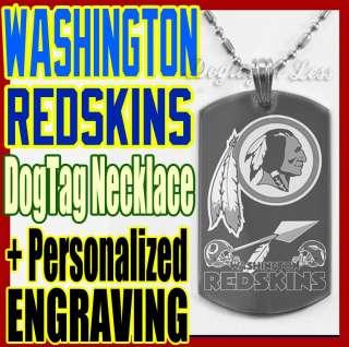 Washington Redskins NFL Custom Design Dog Tag Necklace