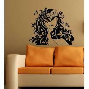 Flower Girl Mural Wall Decor Art Vinyl Decal Sticker 25