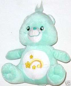 Plush 10 inch Care Bear Plush Light Green w Rainbow
