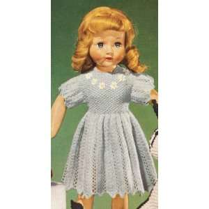 Vintage Knitting PATTERN to make Knitted 18 Doll Fancy Dress