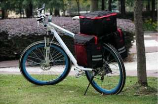 55L Cycling Bicycle Bag Bike rear seat bag pannier With Rain Cover