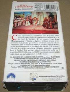 The Ten Commandments VHS 2 Tape Set, Spanish Subtitles 097360652406