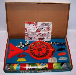 GIANT WHEEL GAME HOT ROD SPORTS CAR RACE REMCO 1967 NM