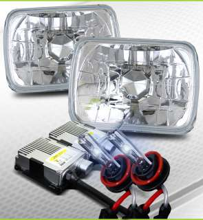 8000K HID 7x6 H6014/H6052/H6054 Crystal Headlights Kit
