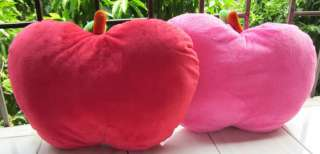 Lovely 1pair ping&red hello kitty apple stuffed pillow