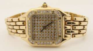 LADIES DIAMOND PAVE 14K Y.G .WATCH   CLOSEOUT PRICE $