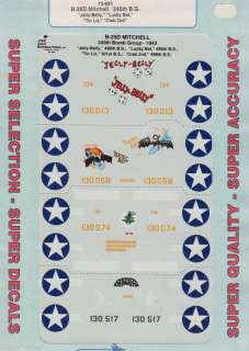72 SuperScale Decals B 25D Mitchell 345th BG 72 691
