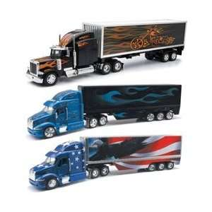 New Ray 132 Scale Die Cast Peterbilt Trucks w/New Trailer