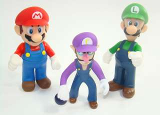 super mario bros action figures WALUIGI LUIGI MARIO