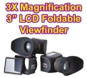 3x LCD Viewfinder for Canon 5D Mark II 7D 60D T2i 550D