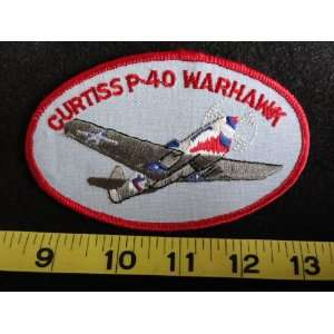 Curtiss P 40 Warhawk Airplane Patch Everything Else