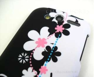 FOR HTC MYTOUCH 4G T MOBILE BLACK WHITE HARD COVER CASE