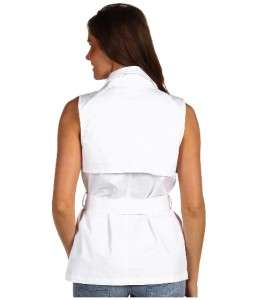 Womans MICHAEL KORS White Sleeveless Jacket/Vest XS M ($120)