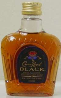 MINIATURE ~ CROWN ROYAL BLACK WHISKY   Collectible