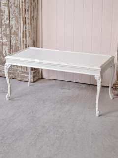 Shabby Cottage Chic Coffee Table White French Style Louis XV Style