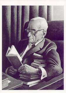 THOMAS HART BENTON print PORTRAIT OF HARRY TRUMAN AT 86