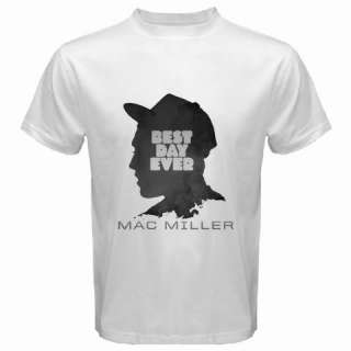 MAC MILLER Best Day Ever T SHIRT RAP HIP HOP White