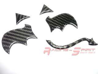 REAL CARBON FIBER WING DEVIL LOGO SET FOR REAR SCION EMBLEM XA XB TC
