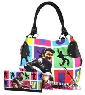 New Licensed ELVIS PRESLEY Signature Product Bucket Hobo Bag RETRO