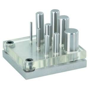 Hardened Alloy Steel 9 Piece Punch and Die Set w/ Clear Plate for Easy